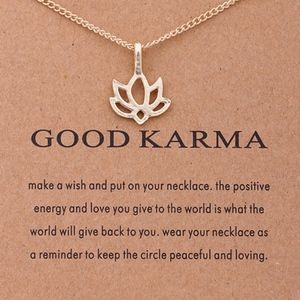 PREVIEW!! Good Karma Lotus Flower Charm Necklace